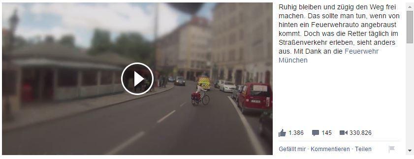 Szene aus dem Video. Foto: Screenshot Facebook / Bayern 1