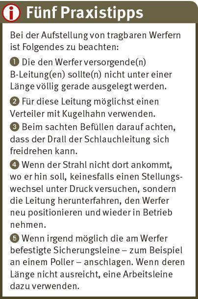 Fünf Praxistipps_tragbare Werfer_Feuerwehr