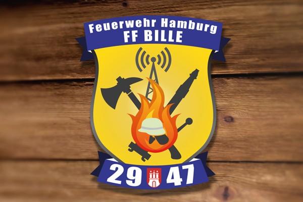Das neue Logo der Freiwilligen Feuerwehr Bille. Foto: Merle Müller