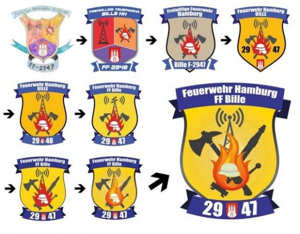 Feuerwehr Bille_Logo_entwicklung_Merle Müller