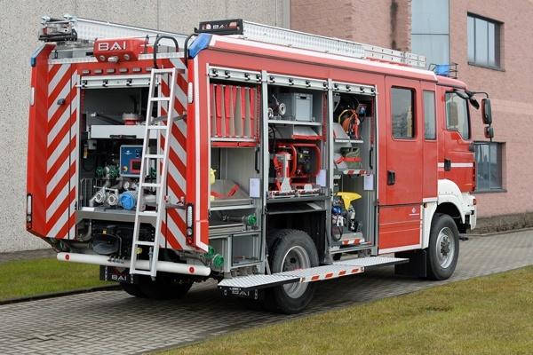 HLF 10 der Feuerwehr Pforzheim vom Aufbauhersteller BAI. Foto: BAI