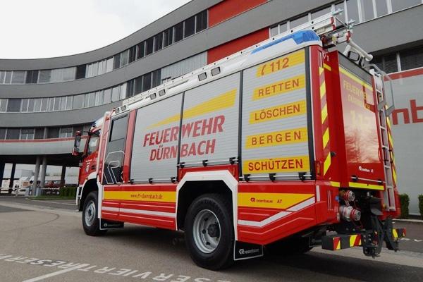 Das neue HLF 20 der Feuerwehr Dürnbach. Foto: Feuerwehr Dürnbach