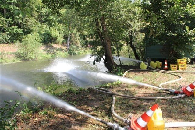 Maßnahmen, um die Konzentration des Schadstoffes im Wasser zu reduzieren. Foto: Kreis Schwäbisch Hall