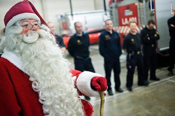 Weihnachtsmann-Feuerwehr. Foto: Feuerwehr