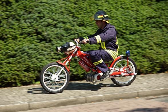 Feuerwehr-Moped. Foto: Hegemann