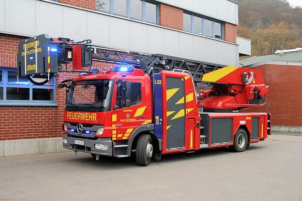 Metz lieferte an die FF Plettenberg eine DLAK 23/12 auf Mercedes Atego 1529. Foto: Feuerwehr