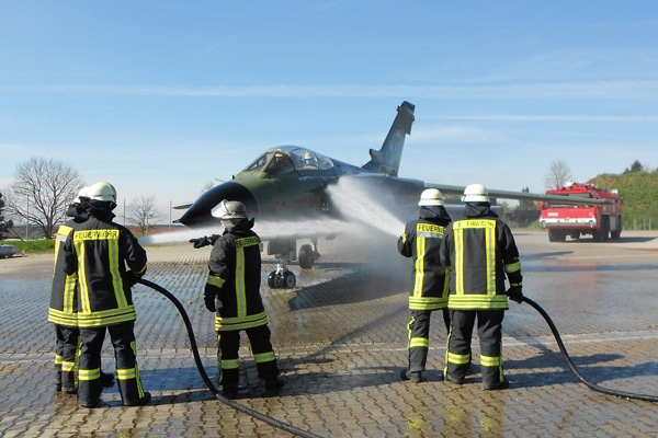 Feuerwehrausbildungsstätte der Bundeswehr. Foto: Heino Schütte