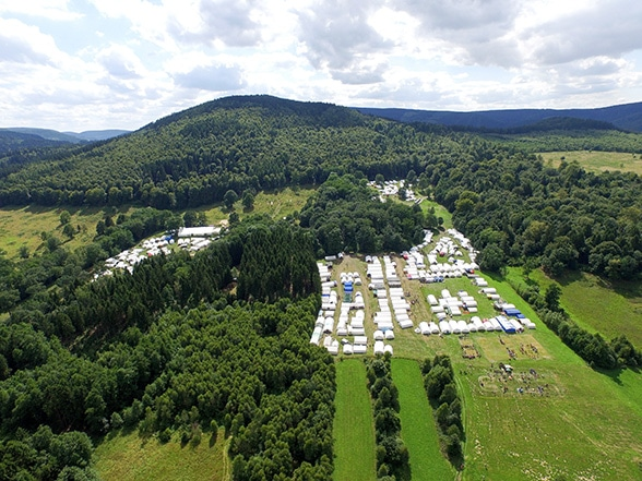 Fünf Länder, fünf Camps. Foto: Niedersächsische Jugendfeuerwehr