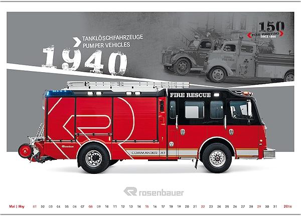 Rosenbauer-Kalender 2016.