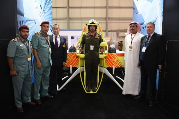Die Feuerwehr Dubai erhält 20 Jetpacks. Foto: Martin Jetpack