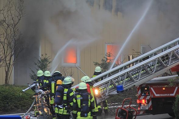 Saunaclub bei Brand evakuiert. Foto: Döring