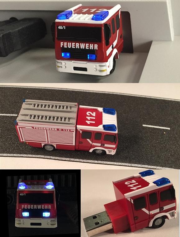 USB Stick Feuerwehrfahrzeug: Produkt wurde verbessert. Foto: FM