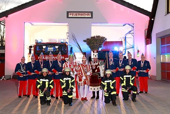 Lösche, Fiere, Karneval. Foto: Feuerwehr