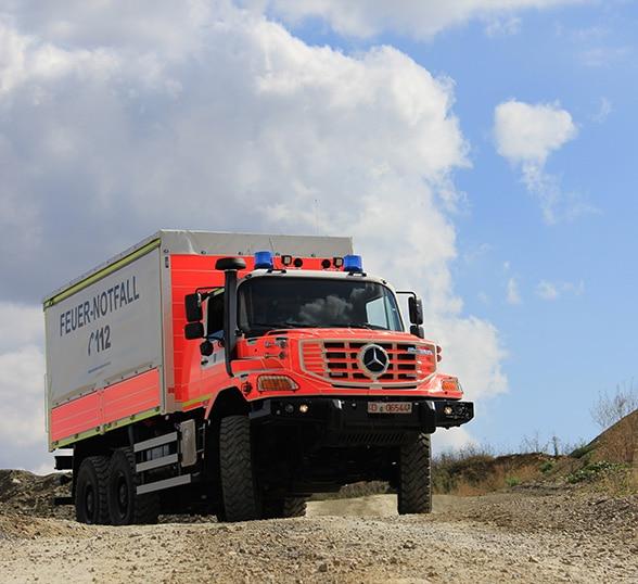 GW-Logistik auf Zetros 6x6. Foto: GW-Logistik auf Zetros 6x6