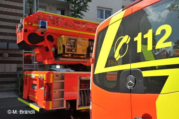 PKW Brand in der Tiefgarage des Altenheimes Steingausift in Kirchheim