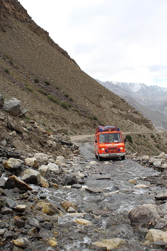 Im ELW nach Tadschikistan. Foto: Leimig