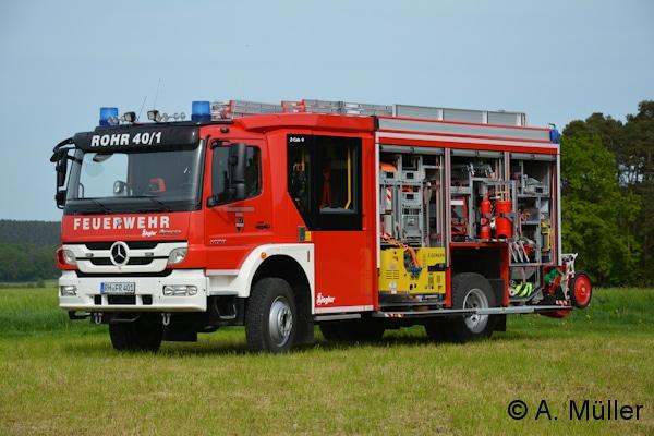 In der geräumigen Z-Cab ist nicht nur ausreichend Platz für sieben Mann der Besatzung, sondern auch für vier Atemschutzgeräte Auer AirMaxx. Foto: A. Müller