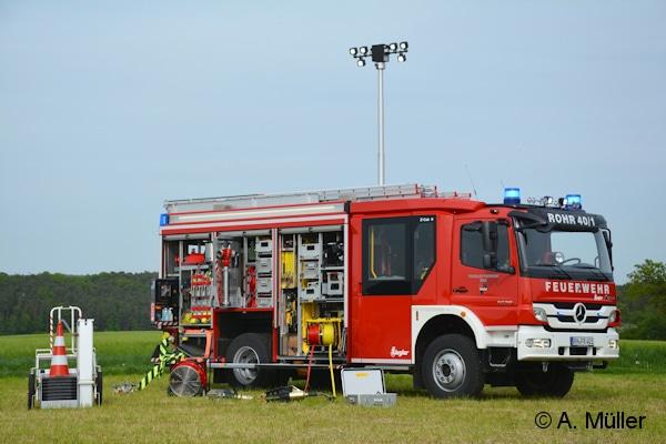 Von Ziegler wurde das neue HLF 20 an die FF Rohr geliefert. Es ist auf einem Merceds Atego 1629 aufgebaut. Foto: A. Müller