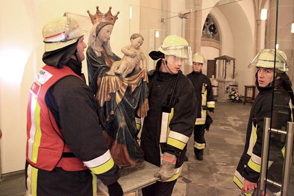 Kulturgut schützen. Foto: Feuerwehr Essen