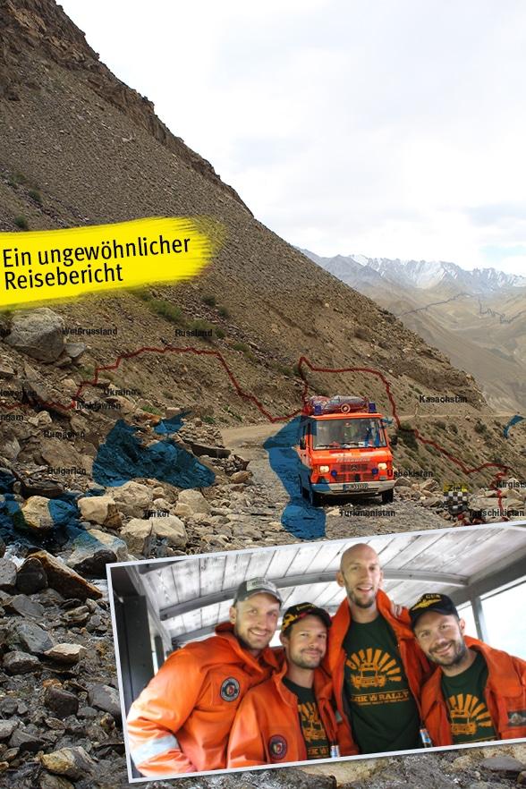 Im ELW nach Tadschikistan. Foto: Knaack