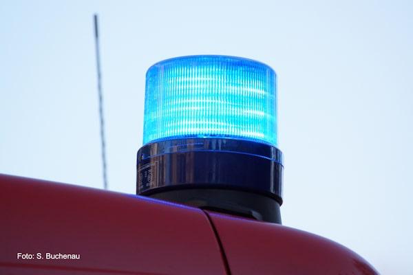 Symbolfoto: Blaulicht. Foto: S. Buchenau