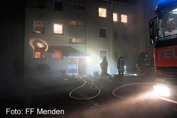Brand in einem Mendener Wohnhaus. Foto: FF Menden