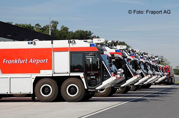 An sechs deutschen Flughäfen streiken unter anderem Feuerwehrleute. Symbolfoto: Fraport AG