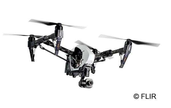 In Kooperation mit DJI bietet FLIR Drohnensets mit Wärmebildkamera an. Foto: FLIR