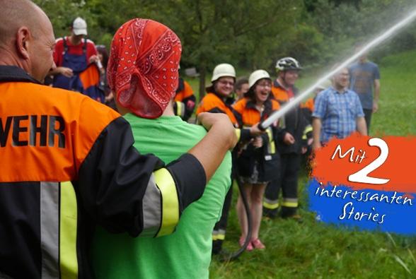 Zwei Aktionen zum Nachmachen. Foto: Feuerwehr Wildpoldsried
