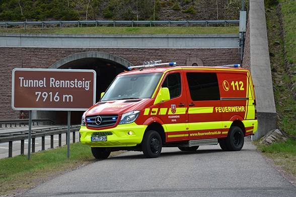 Erstangriff im Tunnel Foto: A. Müller