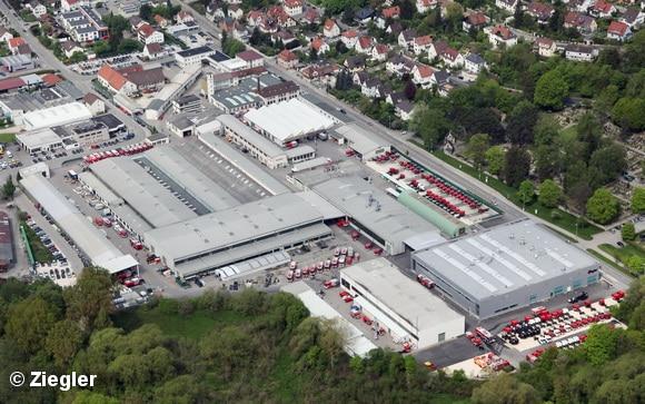 Luftaufnahme des Ziegler-Stammwerkes in Giengen an der Brenz. Foto: Ziegler