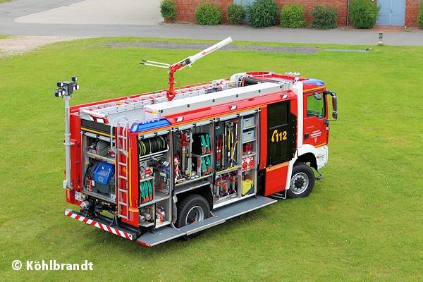 Das neue Erstangriffsfahrzeug der FF Bremervörde stammt aus dem Hause Rosenbauer. Aufgebaut ist das TLF 3000 auf einem MAN TGM 18.340 4x4. Foto: Köhlbrandt