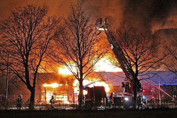 Endstation Hallenbrand. Foto: Bernhard Herrmann