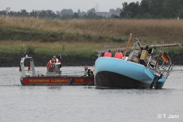 Einsatz Boot auf Grund gelaufen