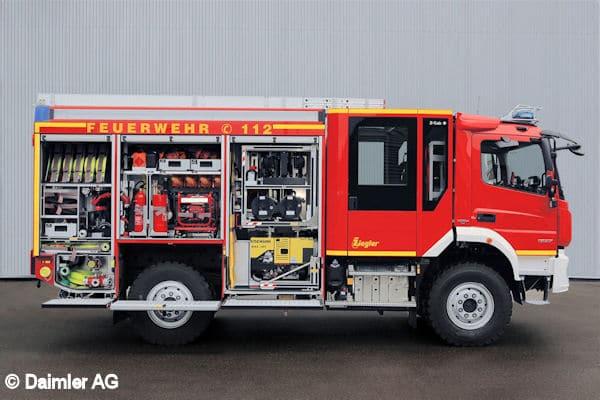 Löschgruppenfahrzeug in Euro VI-Ausführung: Mercedes-Benz Atego 1323 AF 4x4 Euro VI mit einem Aufbau vom Typ LF 10 KatS der Firma Ziegler ; ;