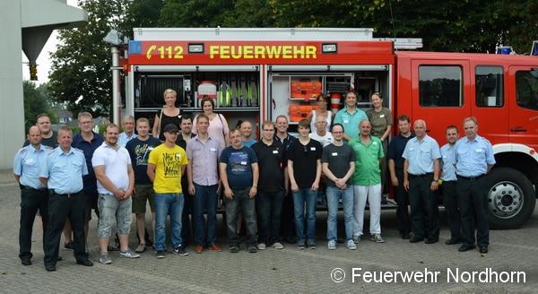 Klasse Resonanz: 21 Interessierte informierten sich am Sonntag über die Arbeit der Fuerwehr Nordhornn und schnupperten mal rein. Foto: FF Nordhorn