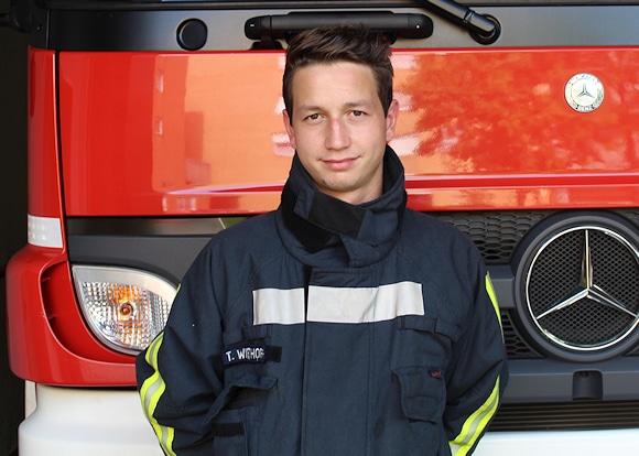 Feuerwehrmann Thomas Wiethoff. Foto: privat