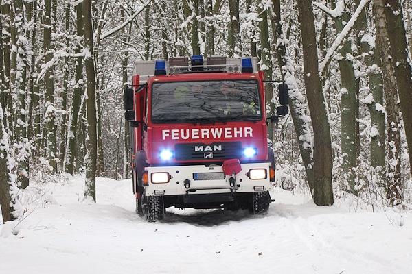Symbolfoto: Rüstwagen im Wintereinsatz. Foto: Klöpper