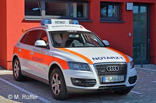 Notarzt-Einsatzfahrzeug des DRK-Rettungsdienstes in Freiburg. Foto: Michael Rüffer