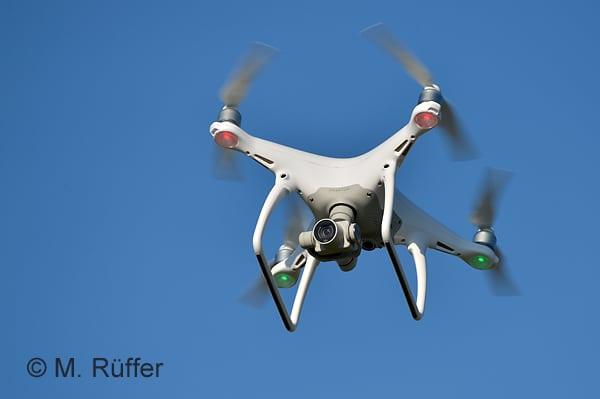 Quadrocopter sind meist günstiger in der Beschaffung. Foto: Michael Rüffer