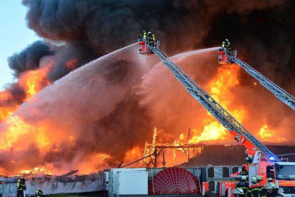 Verheerende Brandausbreitung. Foto: Ebner