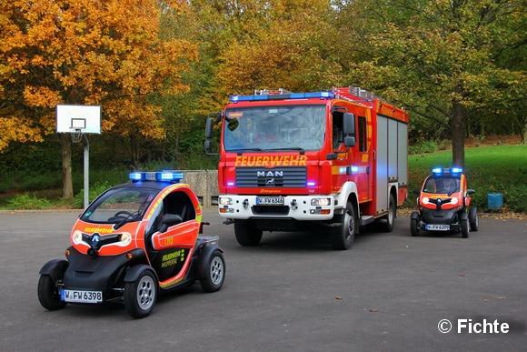 Letztlich konnte mit den beiden Twizys zu wenig Personal beziehungsweise Ausrüstung mitgeführt werden. Die Fahrzeuge waren einfach zu klein. Foto: Fichte