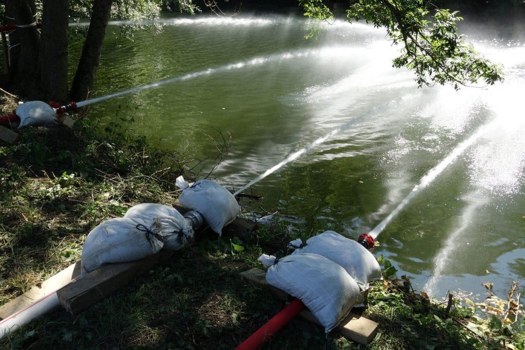 Im Kampf um den Fluss. Foto: 7aktuell.de