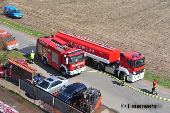 Vermutlich mit einem Tankvolumen von 26.000 Liter Wasser ist das in Cloppenburg stationierte GTLF vermutlich das größte Tanklöschfahrzeug in Deutschland. Foto: Feuerwehr