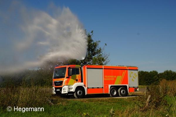 Das neue GTLF der BF Hannover hat Gimaex auf einem MAN TGS 26.480 6x2-2 U aufgebaut. Foto: Hegemann
