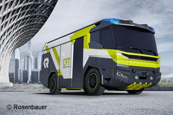 Concept Fire Truck nennt sich diese Studie von Rosenbauer. So könnte das Feuerwehr-Fahrzeug der Zukunft eventuell aussehen. Foto: Rosenbauer