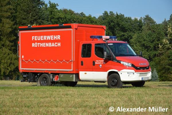Der neue GW-L1 der FF Röthenbach an der Pegnitz basiert auf einem Iveco Daily 70-170 und wurde von der Firma Roth ausgebaut. Foto: Alexander Müller
