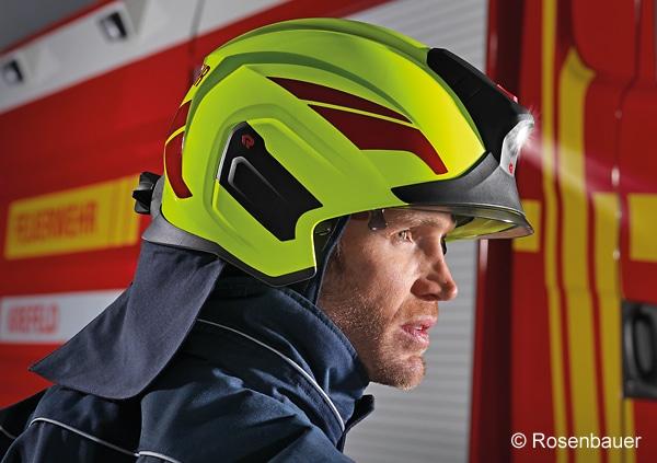 Beispiel für einen Feuerwehrhelm nach EN 443:2008. Foto: Rosenbauer