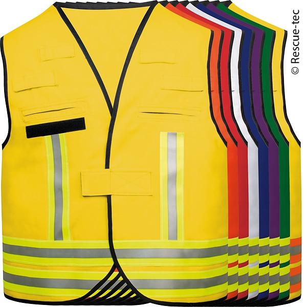 Auswahl an Kennzeichnungswesten für die Feuerwehr.