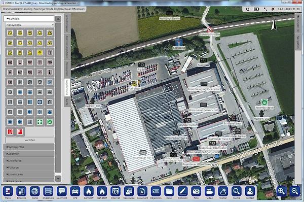 Bei digitalen Systemen lassen sich auch Luftbilder einbinden.